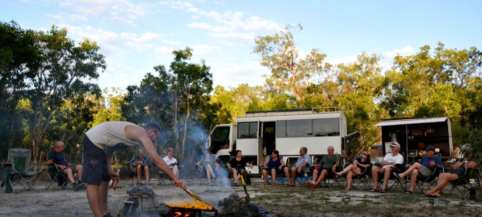 Campfire meals, Cape York Tours, Cockatours